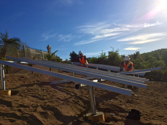 Crew Installing Solar