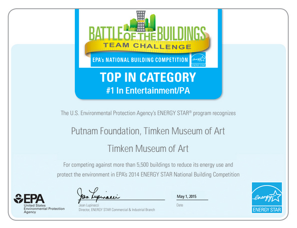 Absolutely Elecitric, Inc. EPA: Entertainment/PA Award for Timken Museum of Art 2014
