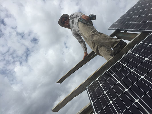 Absolutely Electric, Inc. - Little Hands Orphanage - Off Grid Solar Tracking Installation