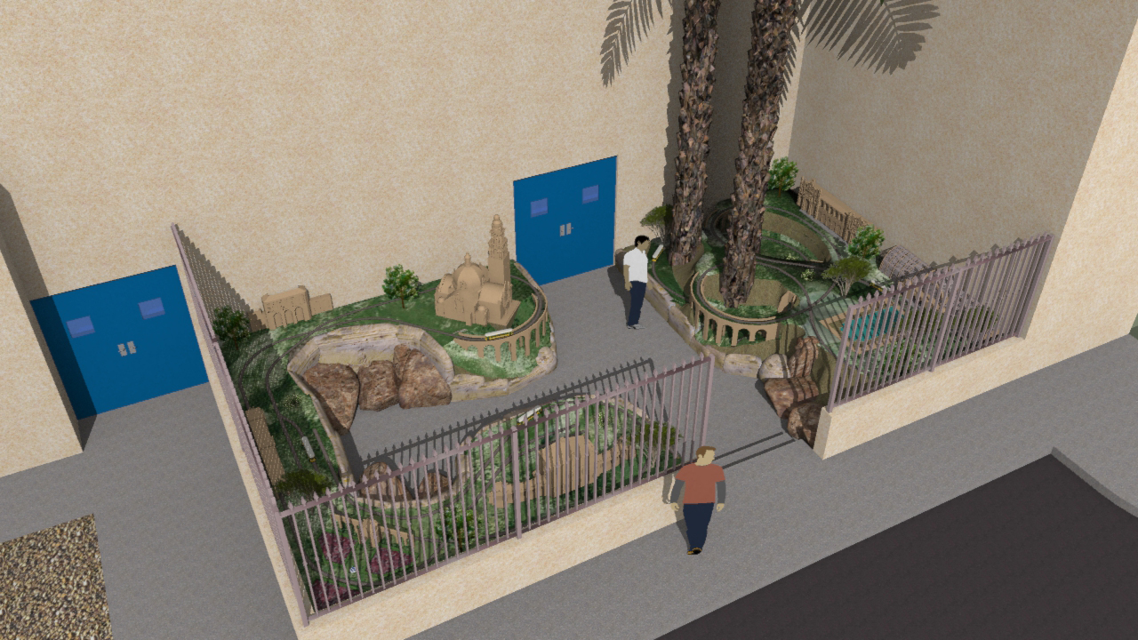 Absolutely Electric, Inc.  San Diego Railroad Museum Garden Rendering
